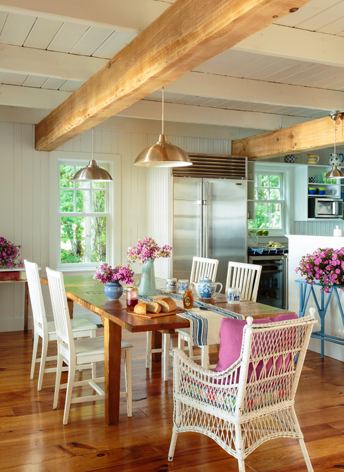Colorful Bungalow Dining Room at the Lake