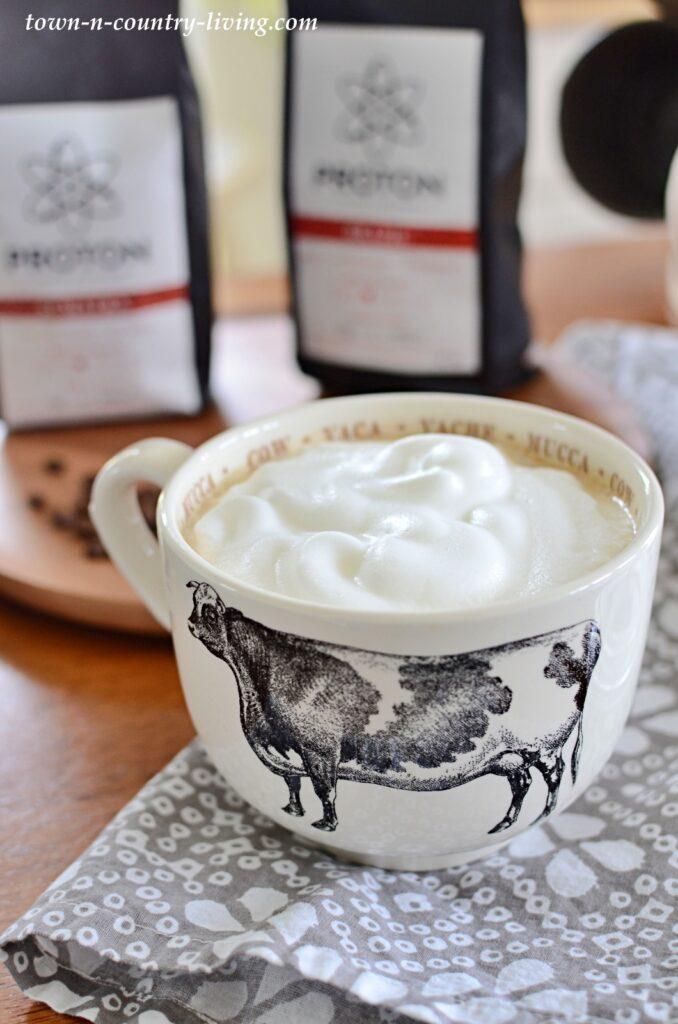 Homemade Coffee Latte with Frothed Milk