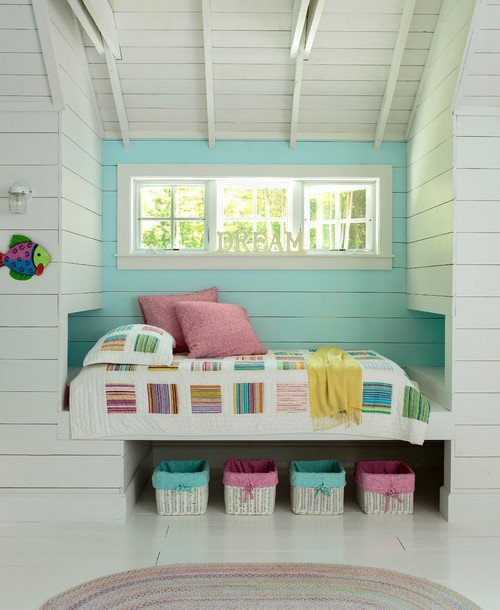 Colorful Kids Bedroom in Door County Cottage on the Lake