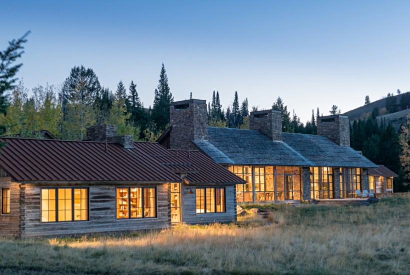 Stone House Exterior in Wyoming