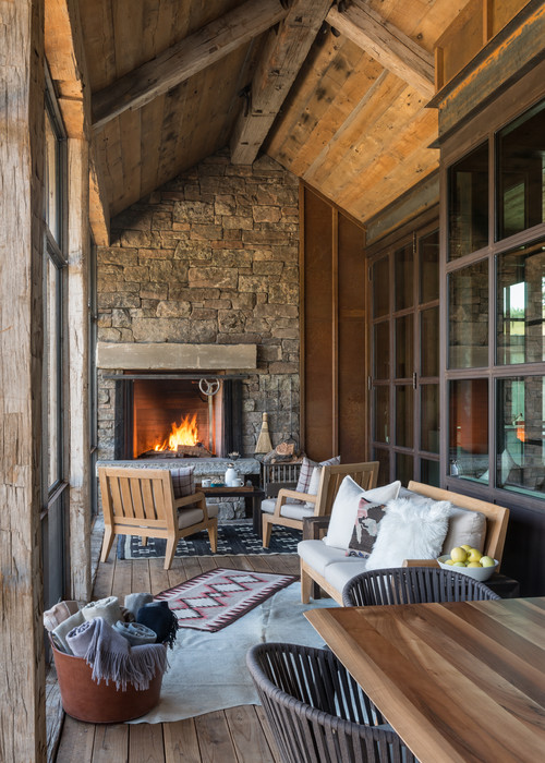 Rustic Wyoming Home with Enclosed Porch