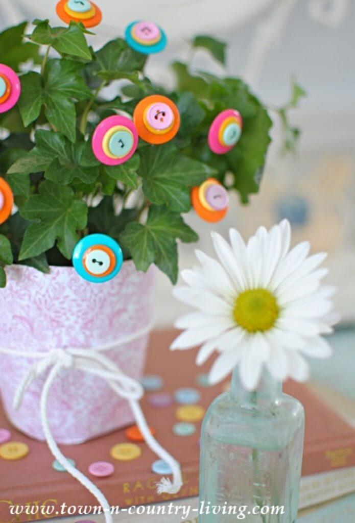 DIY Button Flowers