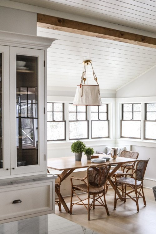 Modern Country White and Wood Breakfast Nook