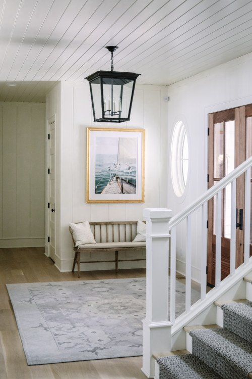 Farmhouse Style Entryway in Wisconsin Lake House