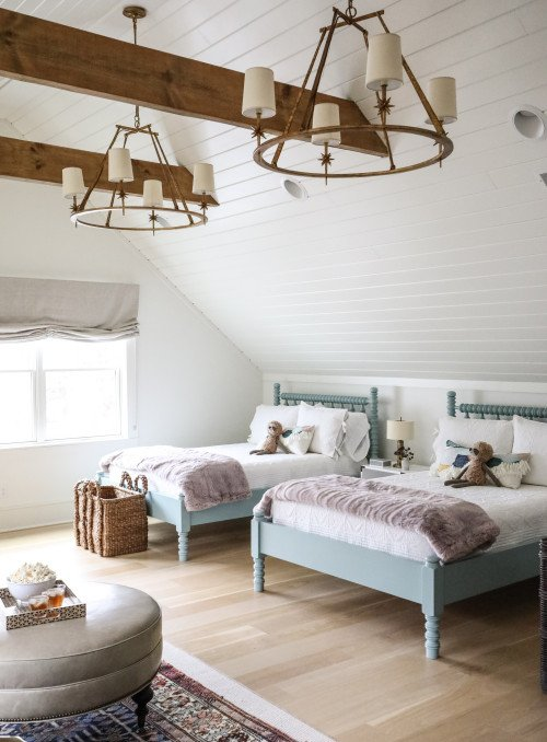 Matching Jenny Lind Beds in Girls' Bedroom