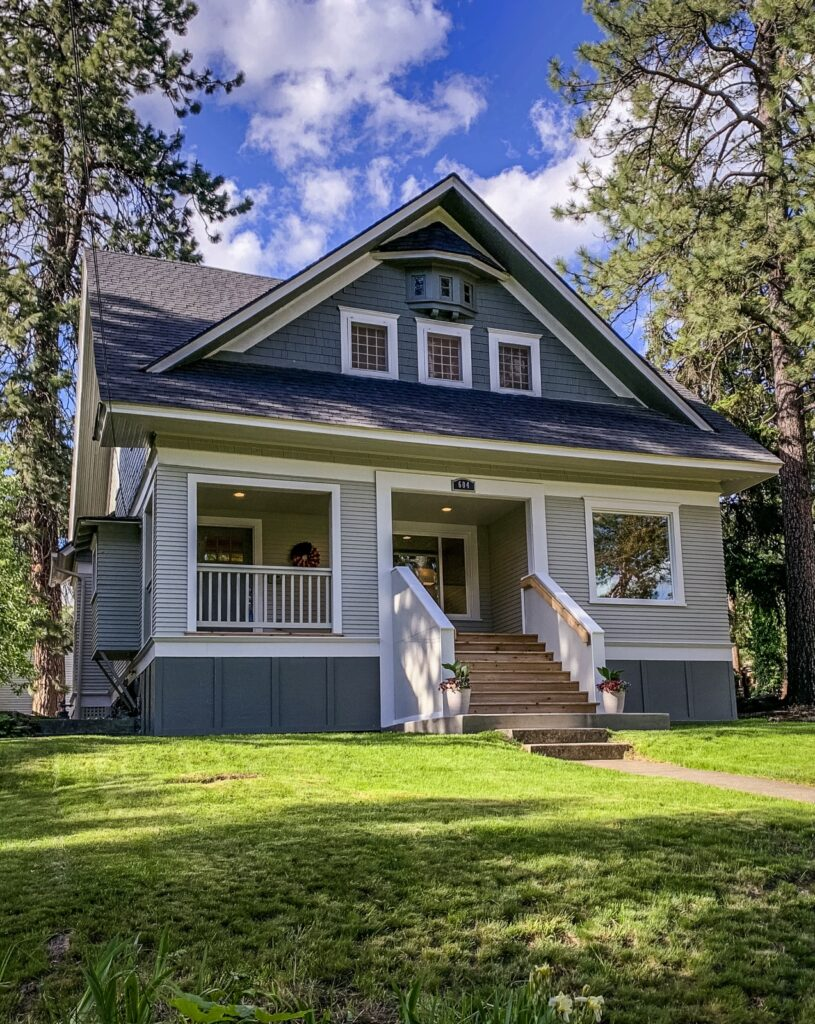 Blue Craftsman Style Home