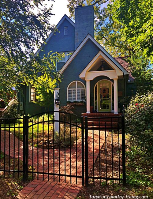 Dark Blue Tudor Style House in Maryville, TN