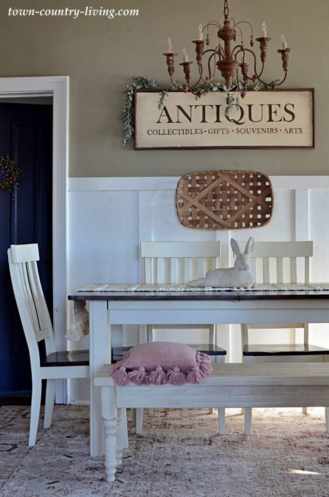 Spring Decorating in a Country Style Dining Room