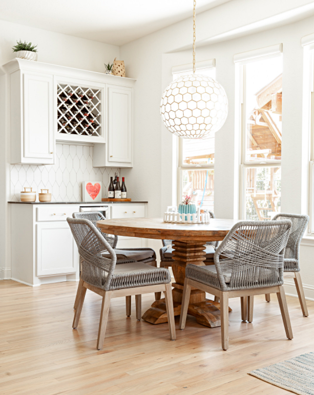 Beach Style Breakfast Nook in Coastal Kitchen