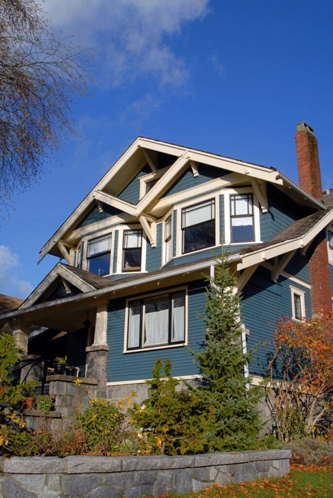 Dark Blue Craftsman Home