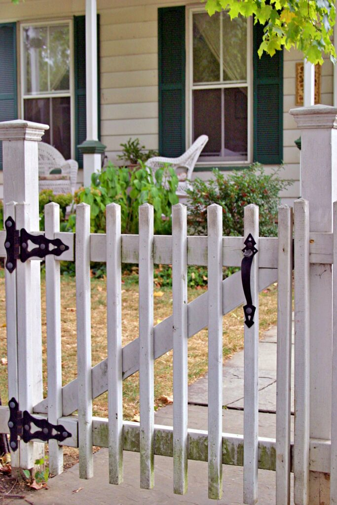 Front Picket Welcome Gate to Older Home