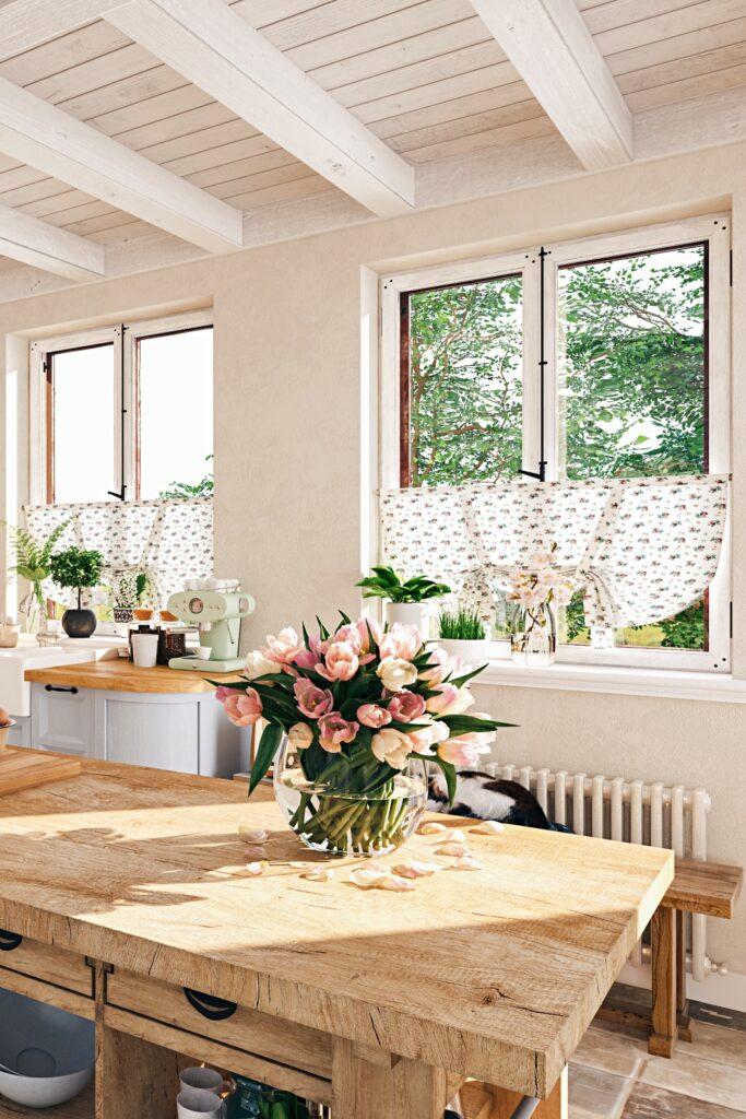 Quaint Scandinavian Style Cottage Kitchen