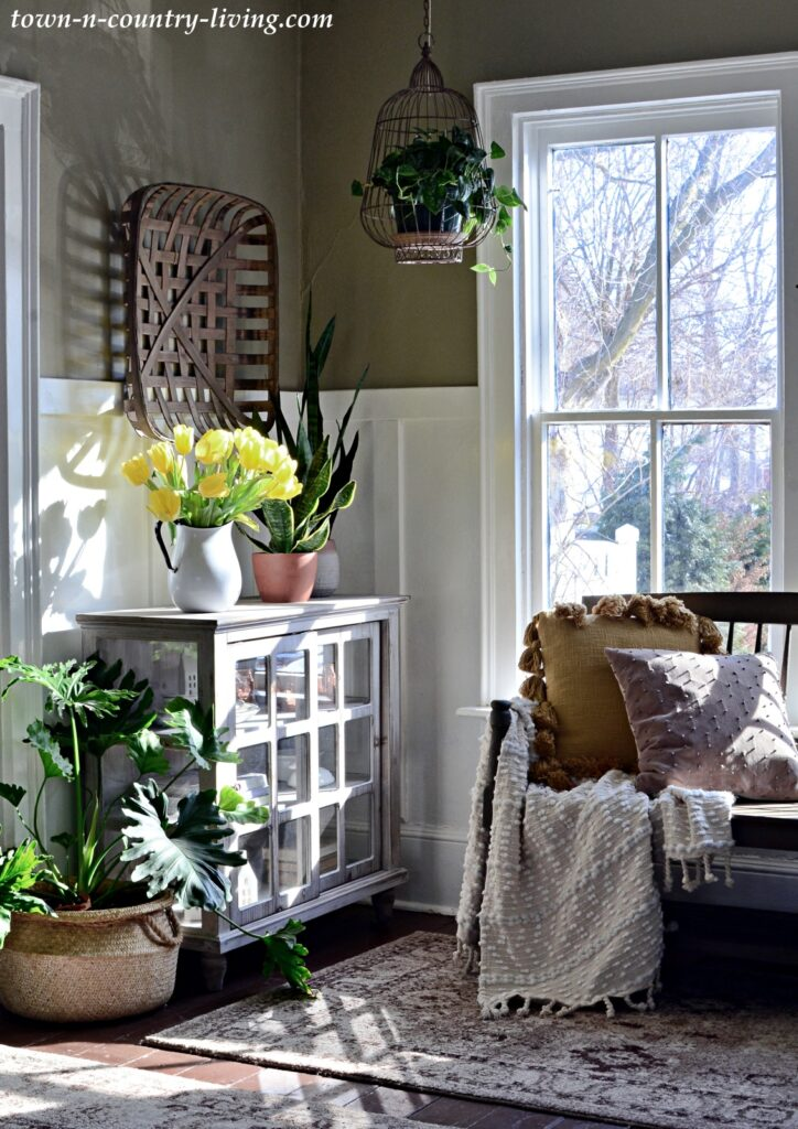 Sunny Entryway in a Country Style Farmhouse