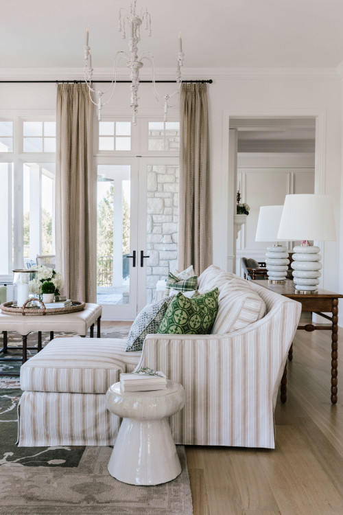 Traditional Casual Family Room in Neutral Tones