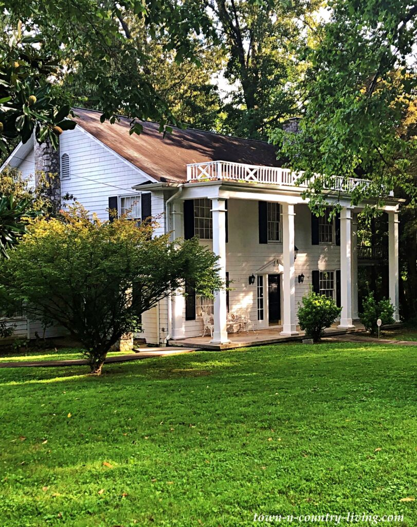 White Columned Porch Southern Home