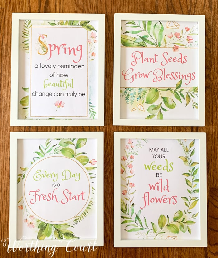 Spring Printables by Worthing Court