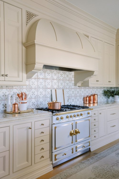 Traditional Kitchen with Professional Stove and Hood Vent