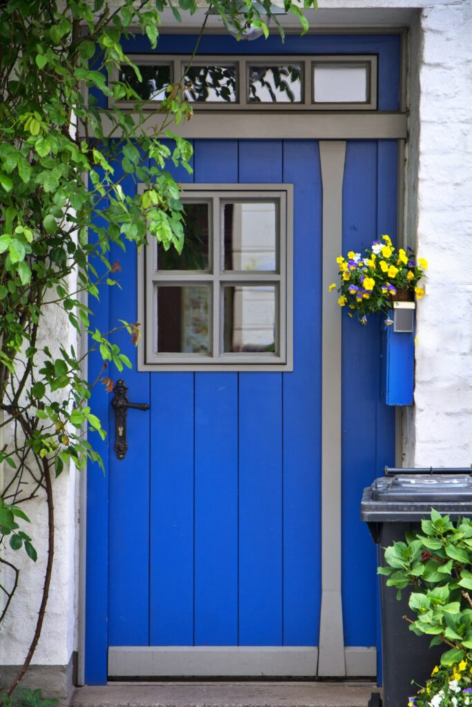 Bright Blue Cottage Door
