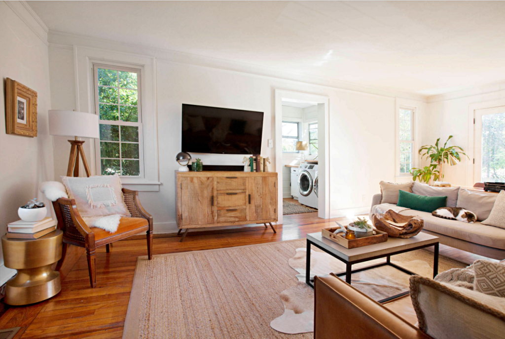 Eclectic Carolina Cottage Living Room