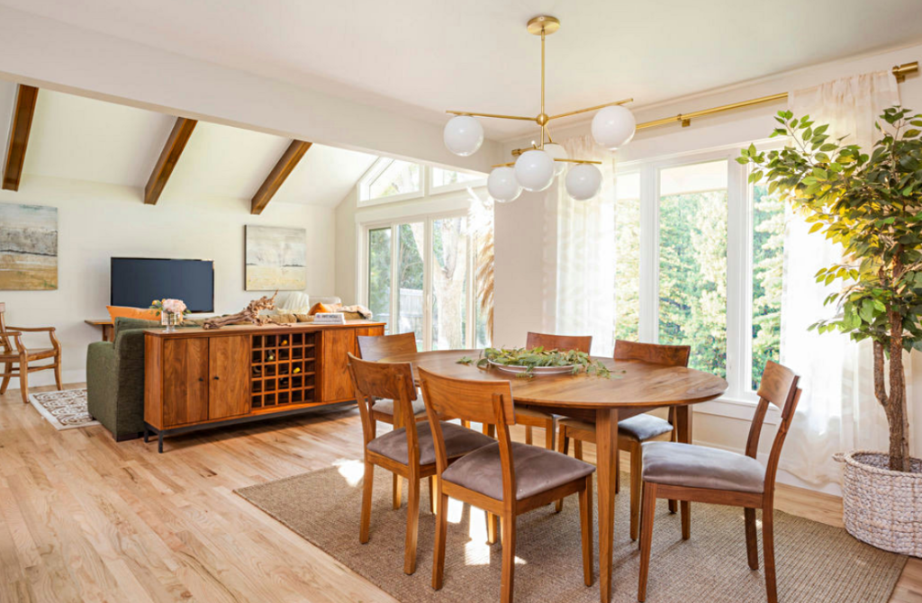 Dining Room in a 1960s Renovated Ranch Home