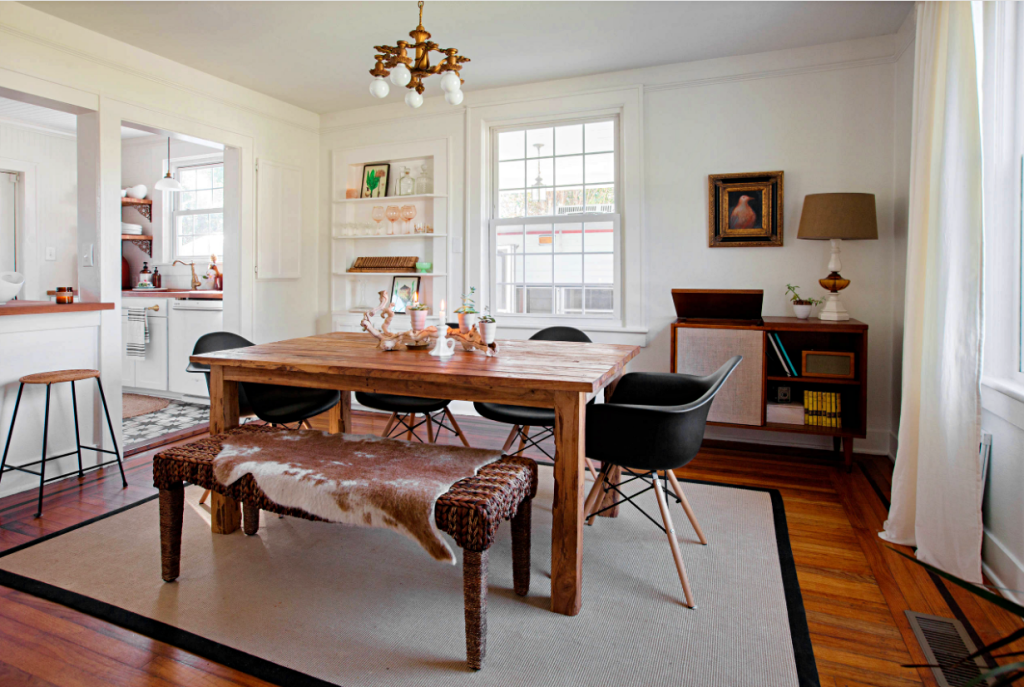 Eclectic Cottage Dining Room