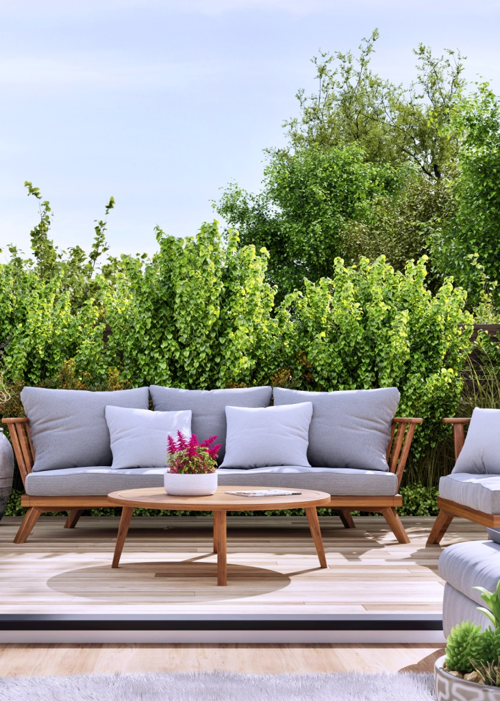 Garden Patio with Comfy Outdoor Furniture