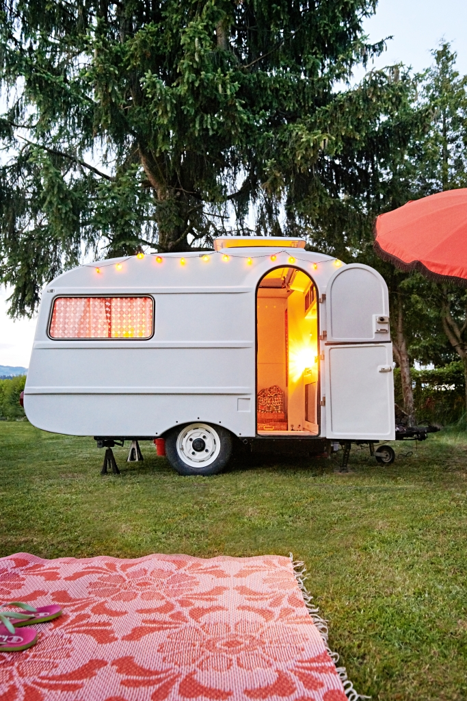 Vintage RV remodeled and ready for glamping