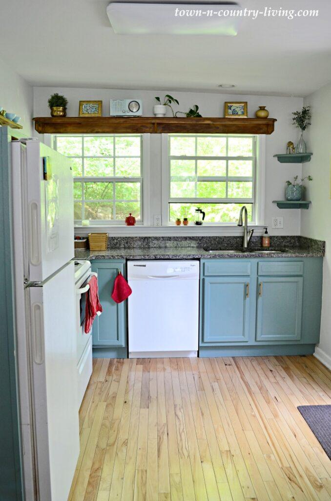 Light Blue Cabinets in Cottage Kitchen