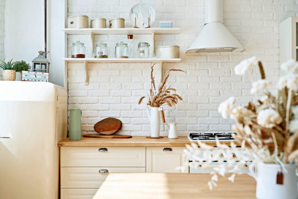 White Scandinavian Kitchen with SMEG Applliances