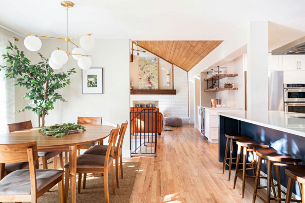Updated open concept living in mid-century ranch home