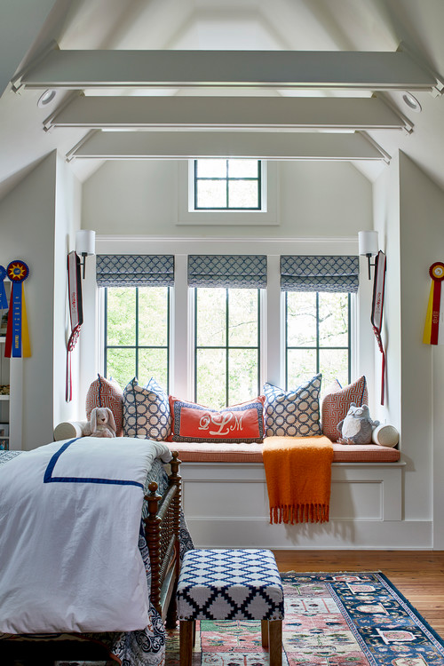 Window Seat in an English Country Bedroom