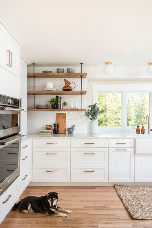 Updated kitchen in a 1960s ranch home