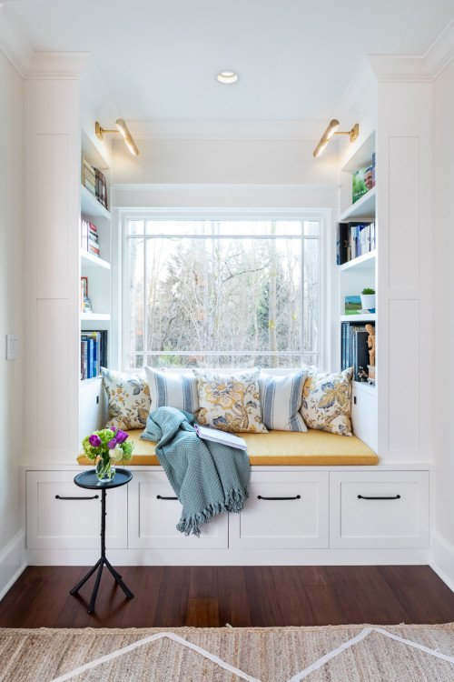 Cozy Window Nook with Pillows for Reading