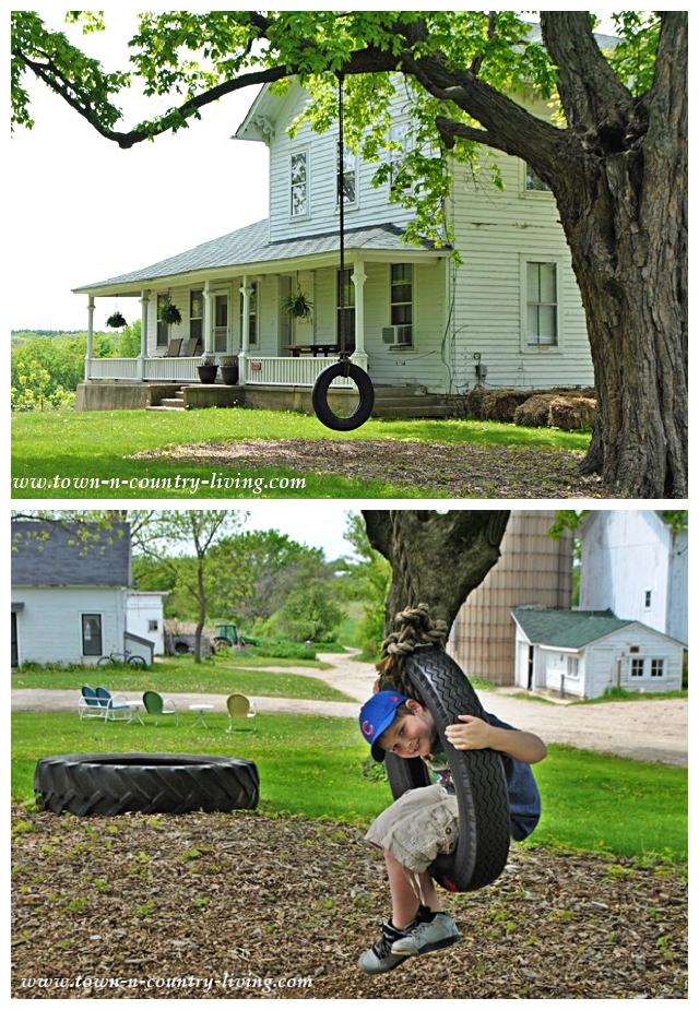 Reifenschaukel im Primrose Farm House