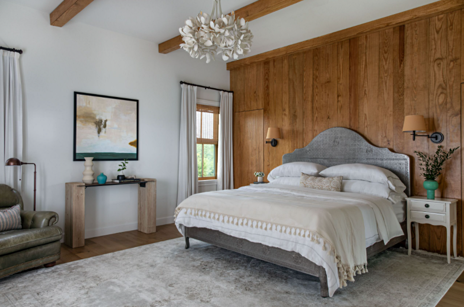 Master Bedroom with Wood Accent Wall