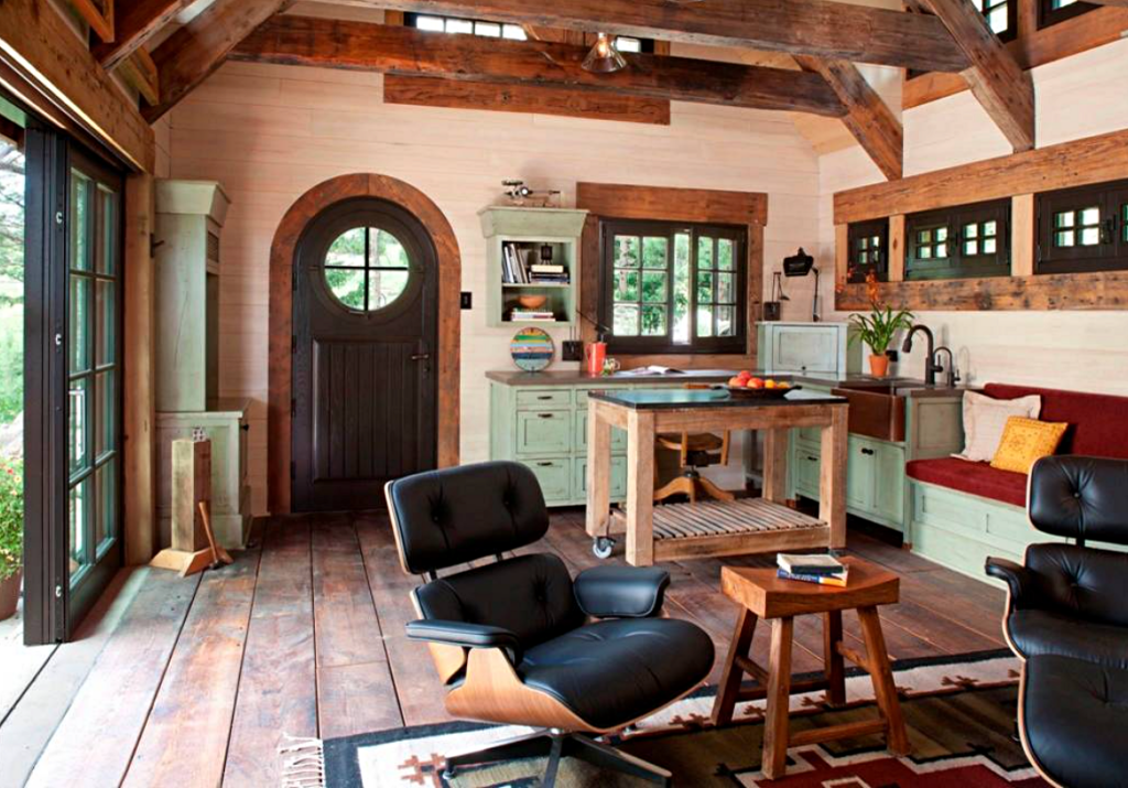 One Room Living in a Colorado Stone Cottage