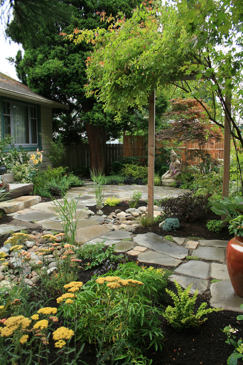 Sustainable Landscape with Stone Patio