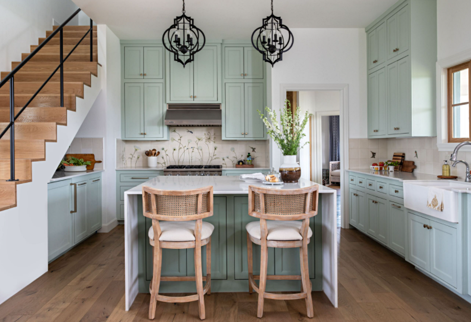 Cottage Style Kitchen in Texas Home