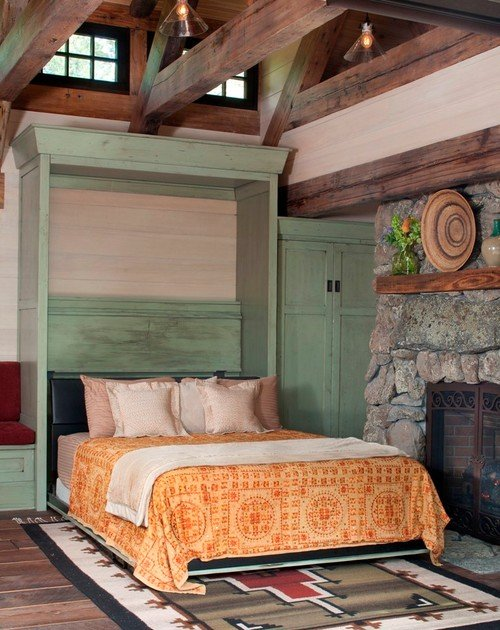 Murphy Bed in a Small Stone Cottage