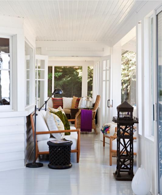 Vintage Porch on a Canadian Cottage