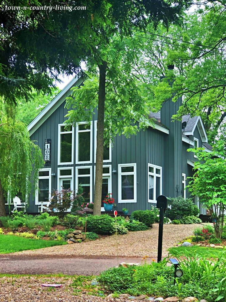 Blue-Gray Modern Farmhouse in New Buffalo