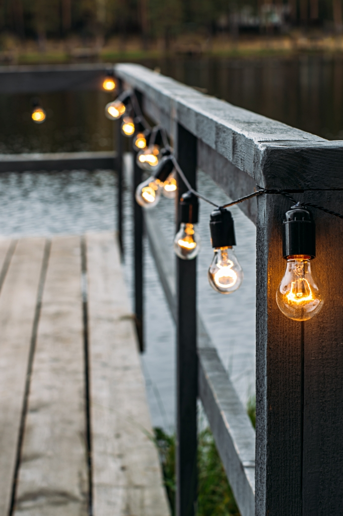 Outdoor Edison lights for patio and deck illumination
