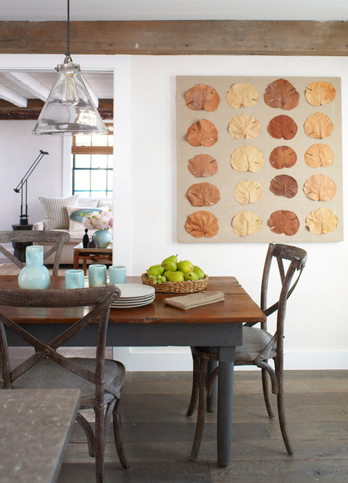 French Country Style Dining Room in Sustainable Home