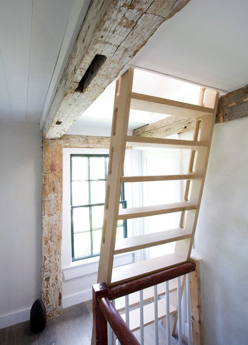 Ladder to Home Attic in Nantucket Home