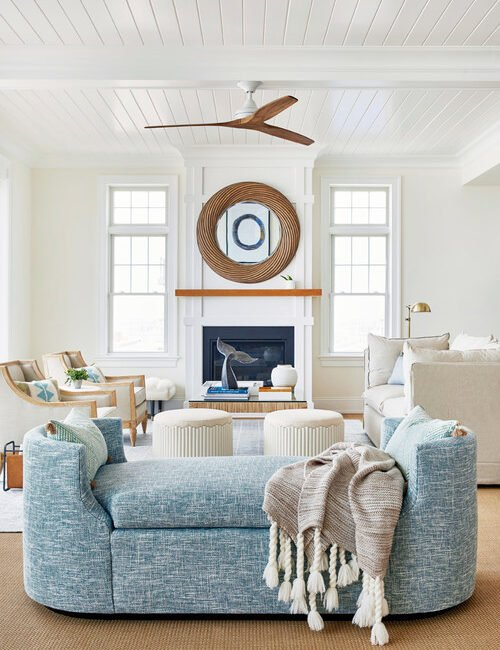 Light and Airy Summer Family Room