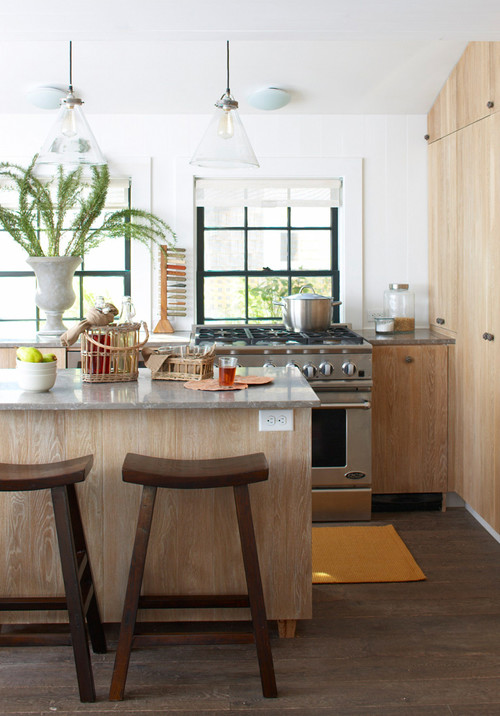 Nantucket kitchen in Gold-Level LEED certified home