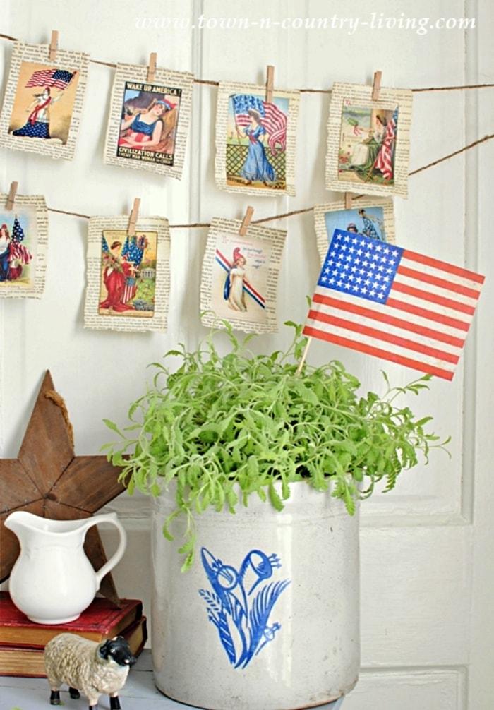 DIY Vintage Patriotic Banner
