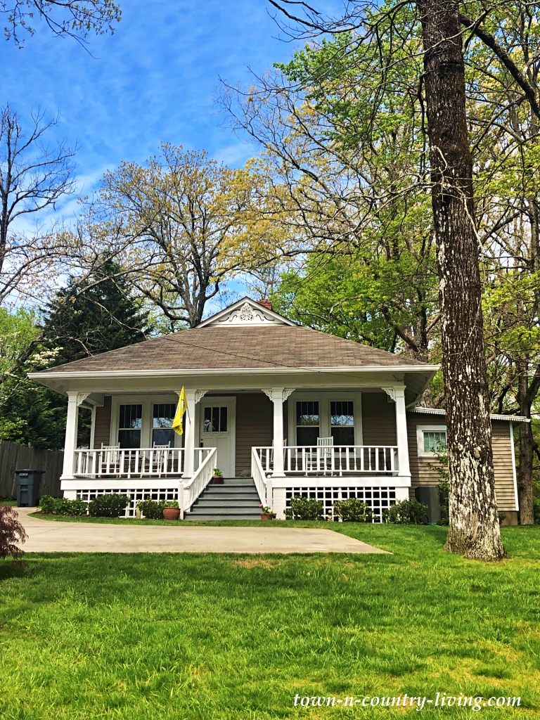 Small, Gray Tennessee Bungalow with Full Porch