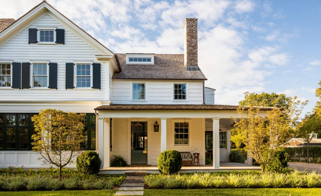Traditional, white, Americana home in the book, Visions of Home