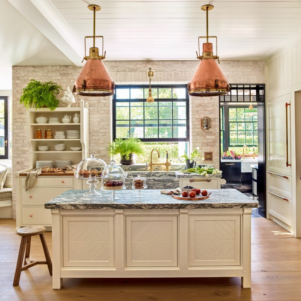 Light and Airy Historic Kitchen with Modern Amenities